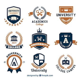 Selection of logos for college