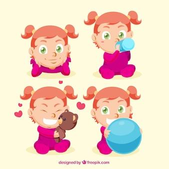 Selection of lovely little girl