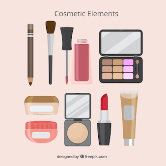 Selection of make-up elements