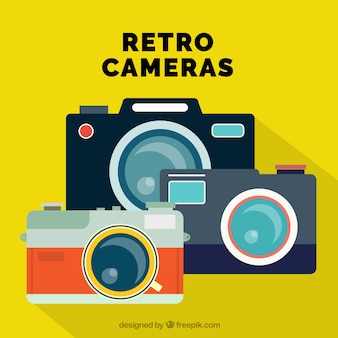 Selection of three retro cameras