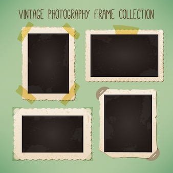 Selection of vintage photo frames