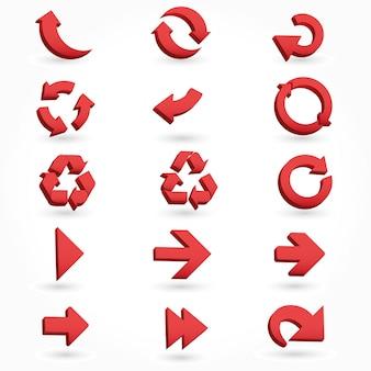 Set arrows 3d