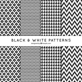 Set decorative patterns in black and white