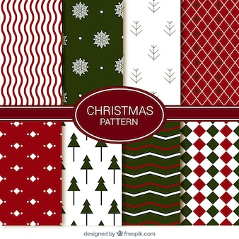 Set of abstract decorative christmas patterns