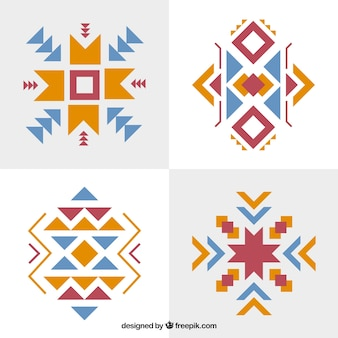 Set of abstract ethnic forms