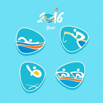 Set of abstract olympic games icons