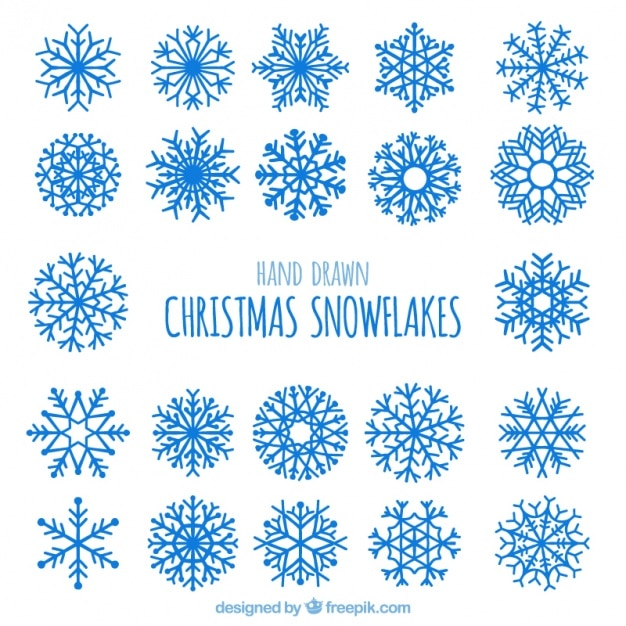 White snowflakes pack Vector | Free Download