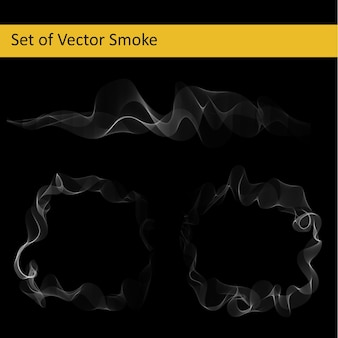 Set of abstract vector smoke