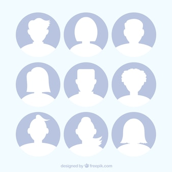 Set of avatar silhouettes