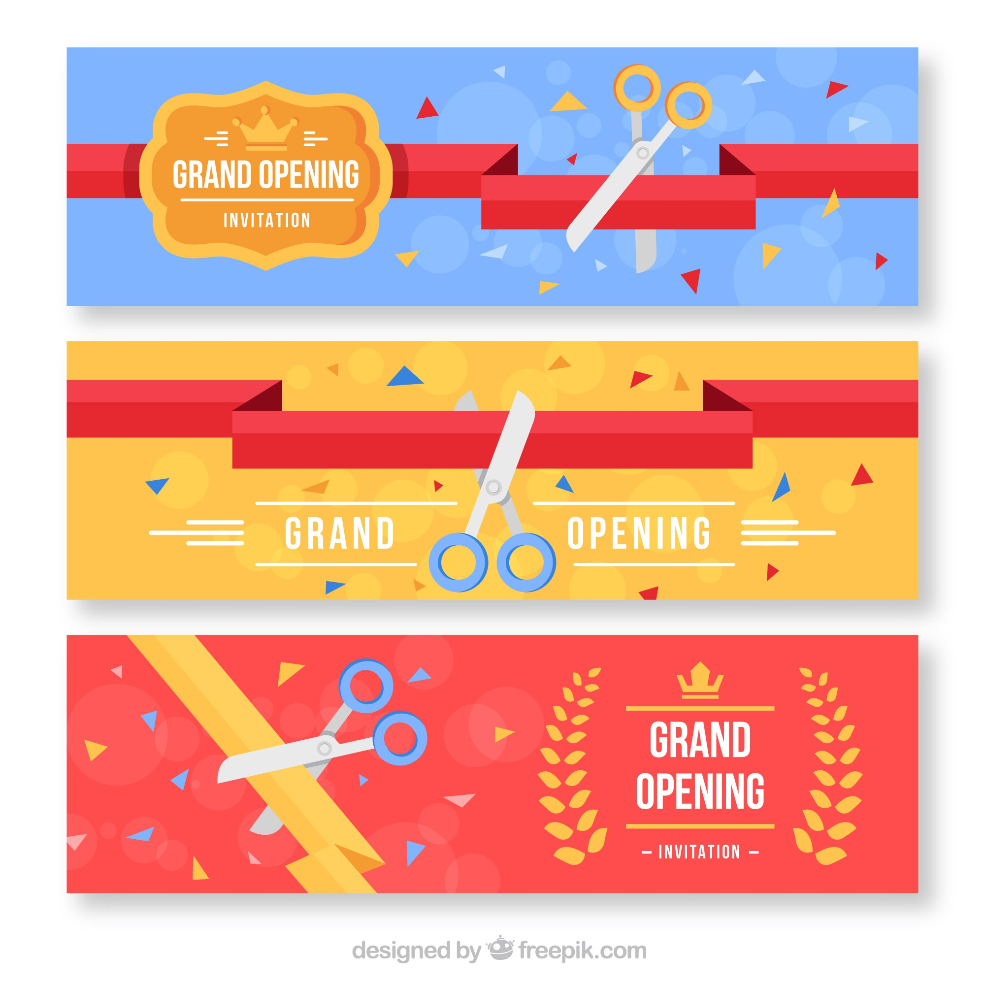 Set of banners in flat design