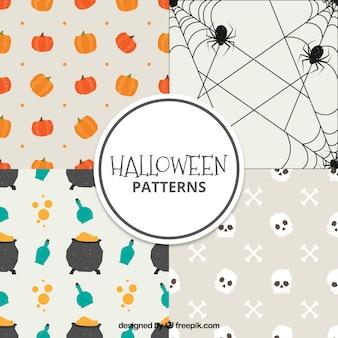 Set of beautiful decorative halloween patterns