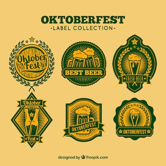 Set of beer oktoberfest stickers