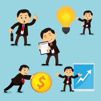 Set of businessman characters.