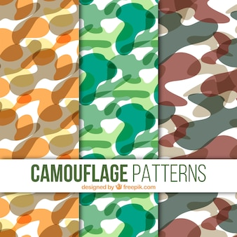 Set of camouflage patterns