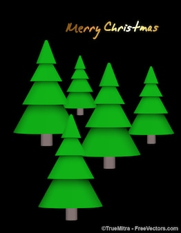 Set of christmas pines