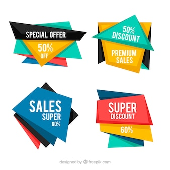 Set of color banners on offer