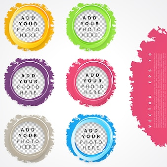 Набор цветных кругов.
