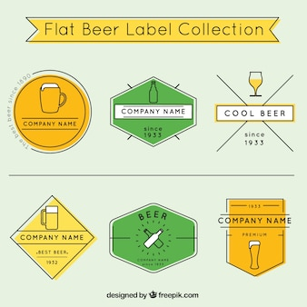 Set of colorful beer badges