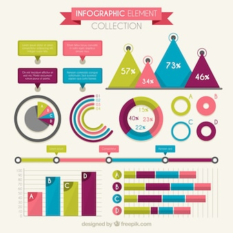 Set of colorful infographic charts