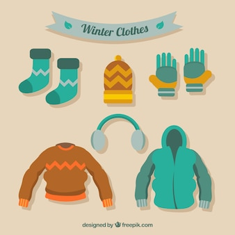 Set of comfortable winter clothes