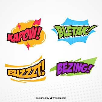Set of comic onomatopoeias