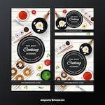 Set of cooking school banners