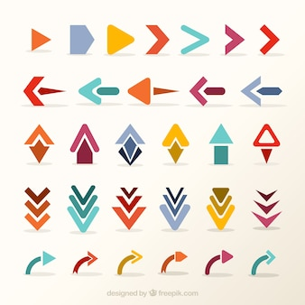 Set of creative arrows