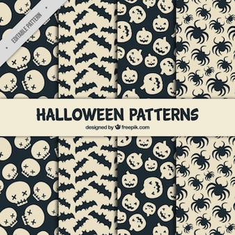 Set of creepy patterns ready for halloween