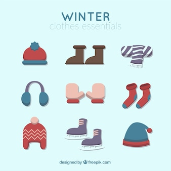 Set of cute winter accessories