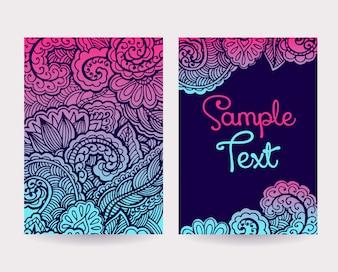Set of Decorative Cards