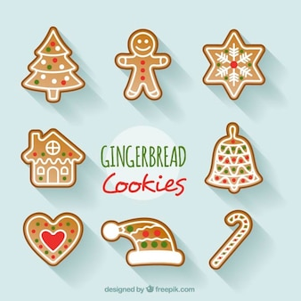 Set of decorative christmas cookies