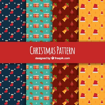 Set of decorative christmas patterns