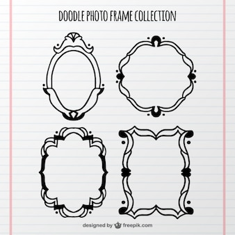Set of decorative hand-drawn frames