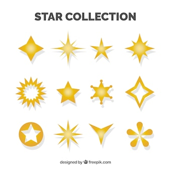 Set of decorative stars