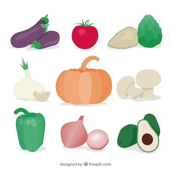 Set of delicious vegetables