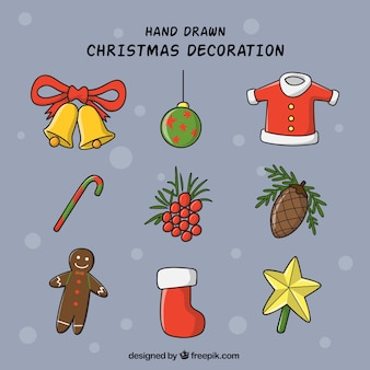 Set of different elements for christmas