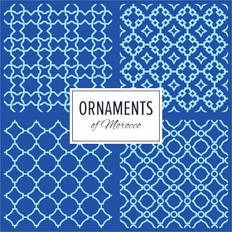 Set of Eastern Morocco Seamless Ornament Patterns