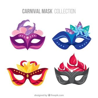 Set of elegant carnival masks