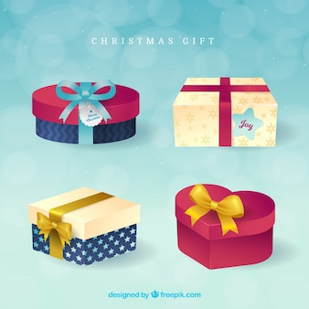 Set of elegant gift boxes