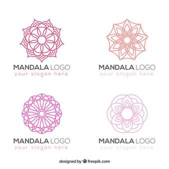 Set of elegant mandalas logos