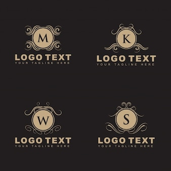 Set of elegant ornamental logos
