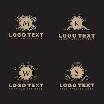 エレガントな装飾的なロゴのパック