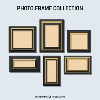 Set of elegant photo frames in flat design