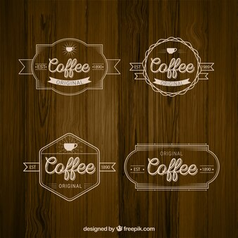 Set of elegant retro coffee badges