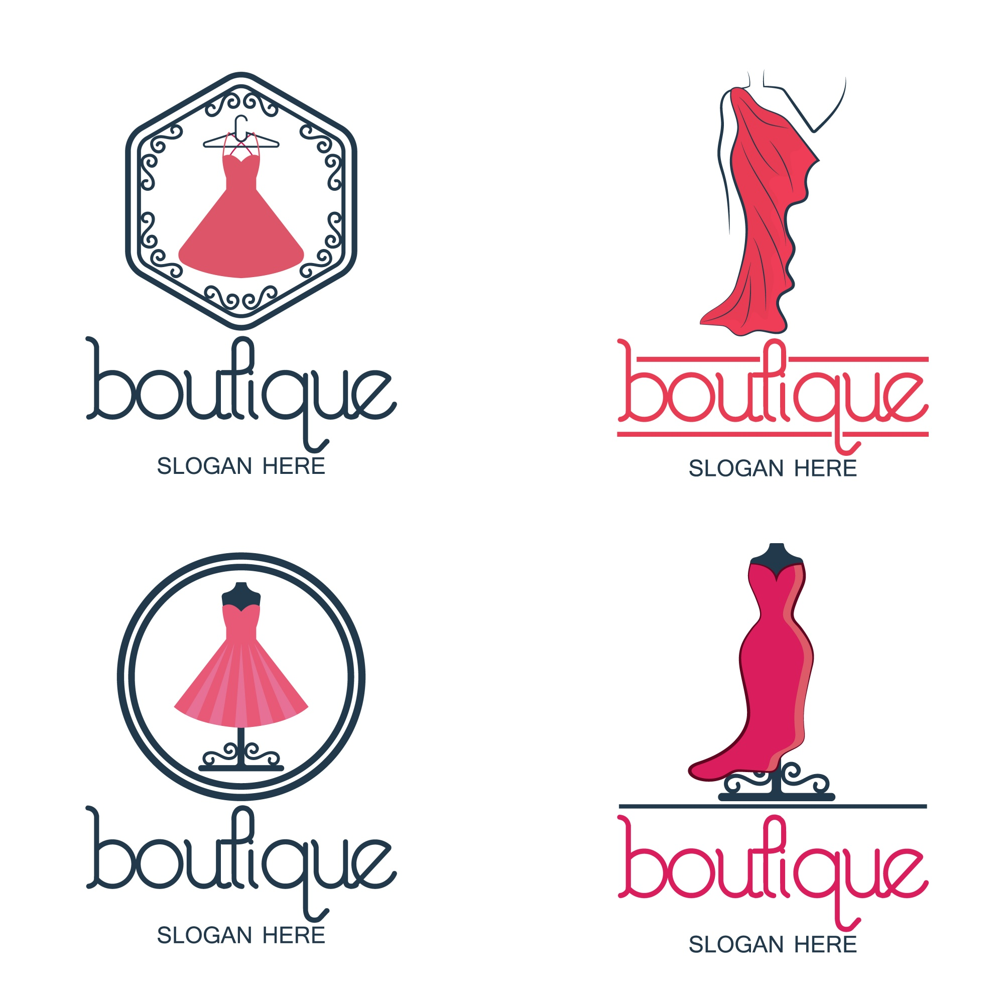 Set of fashion and boutique logo and emblem collection