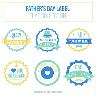 Set of father's day vintage stickers