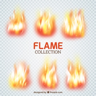 Set of flame brushes