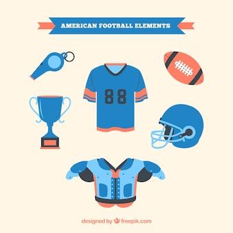 Set of football equipment