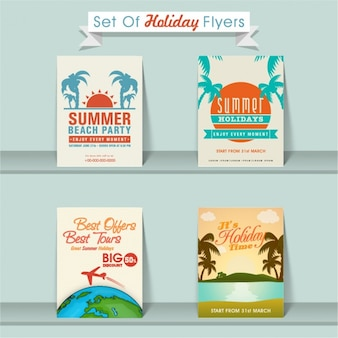 Set of four holiday brochures