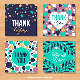 Set of four nice thank you cards